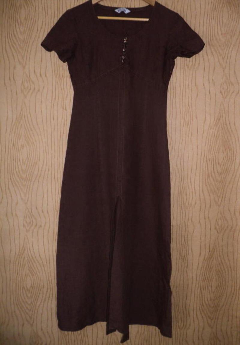 b4abfeec0a7 Дизайнерский сарафан итальянского бренда marella льняной платье льняное лен  коричневый коричневое1 фото ...