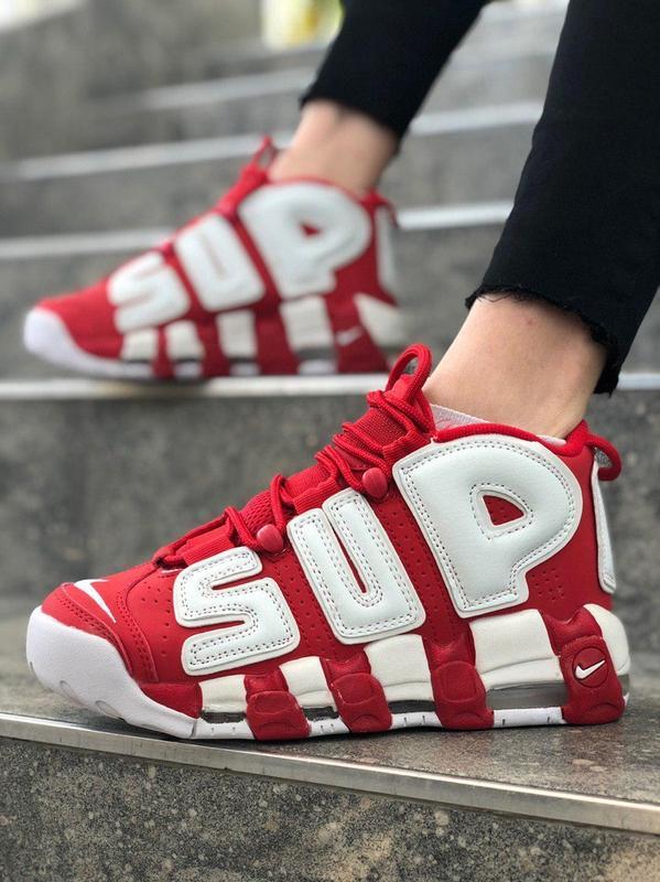 6f51439f Женские красные кроссовки nike air more uptempo supreme Nike, цена ...