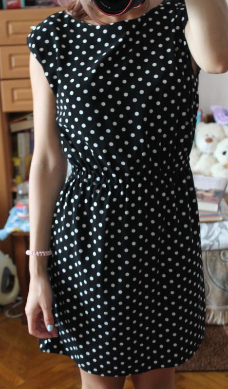 f77b978a831 Черное платье в белый горошек befree1 фото ...
