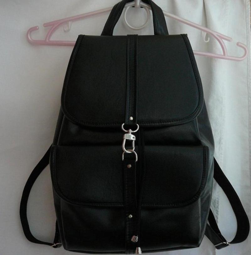 1a9faf3661b4 Городской кожаный рюкзак черный Ручная Работа, цена - 350 грн ...