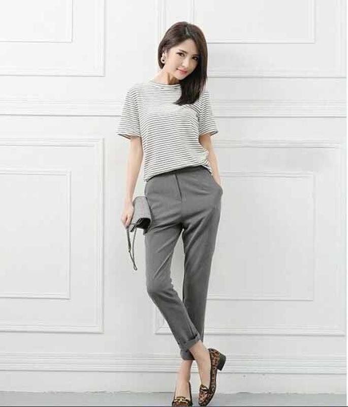 ee6b4fd7298e Зауженные женские брюки серые с высокой посадкой spengler c xc за 170 грн.