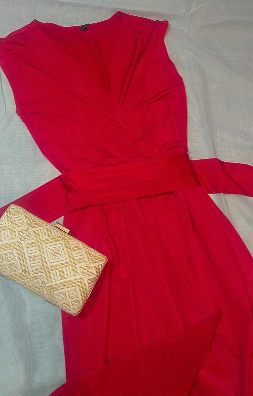 afb334ba14d Ярко красное платье в пол1 ...
