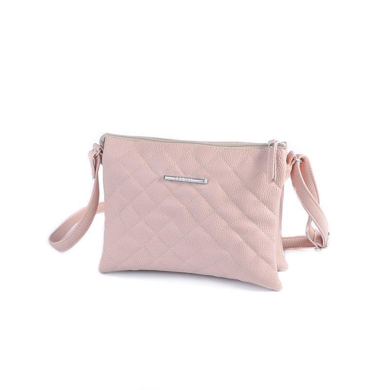 bfff52c4a2d4 Сумка-клатч через плечо на молнии розовая пудровая летняя1 фото ...