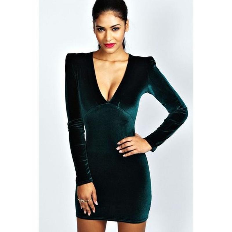 b595e6cfae1 Бирка сексуальное велюровое с глубоким вырезом вечернее маленькое черное  платье xs-s 101 фото ...