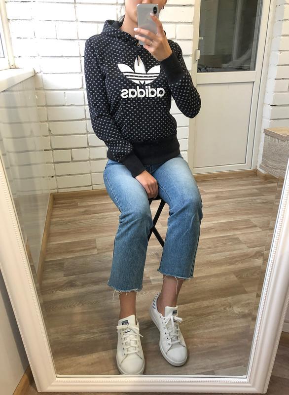 low priced f4d84 65ba6 Черная кофта худи толстовка кенгурушка adidas originals с капюшоном на флисе  s 361 ...