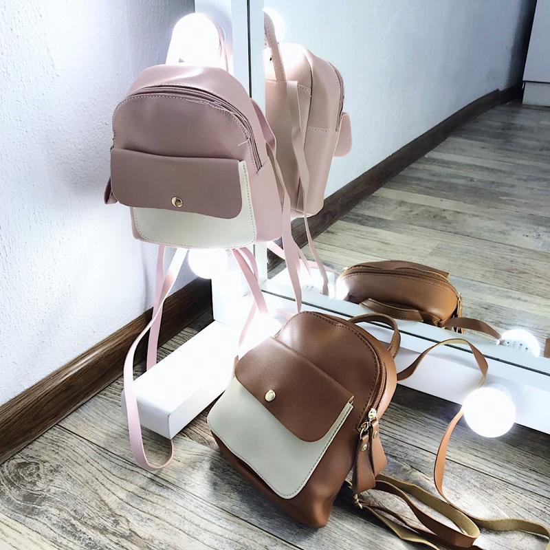 9ddccb2b85df ... Идеальные маленькие рюкзачки, очень вместительные, цвета просто 🌸💔  новые, в упаковках3 фото ...