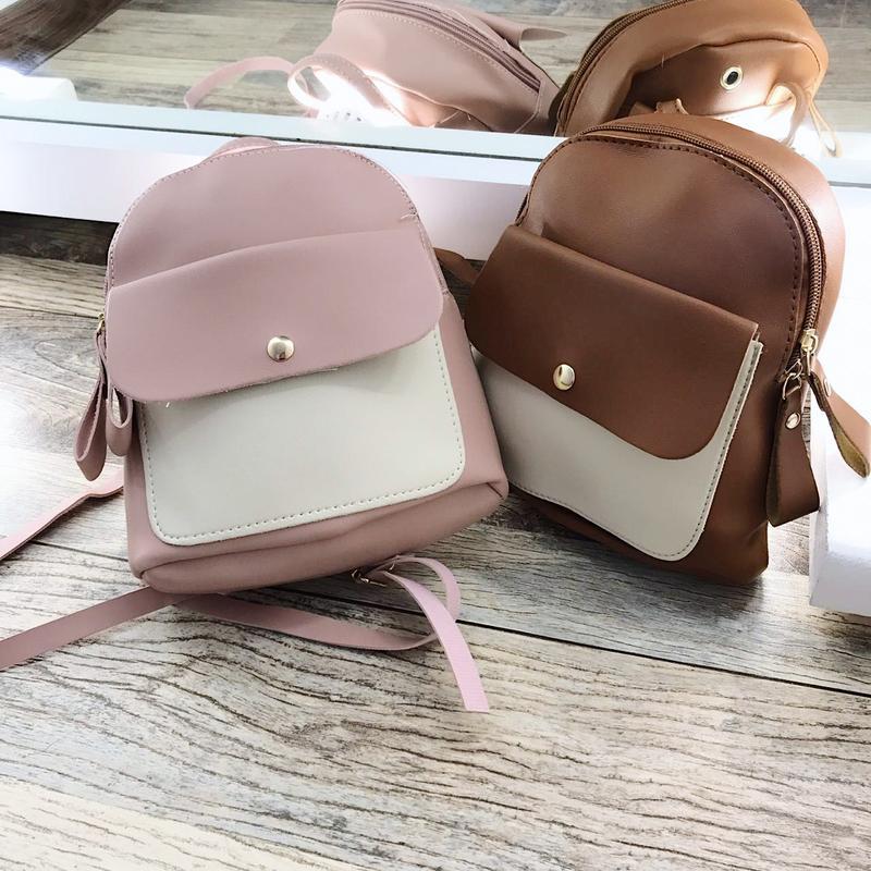 6f322b92e169 ... Идеальные маленькие рюкзачки, очень вместительные, цвета просто 🌸💔  новые, в упаковках10 фото