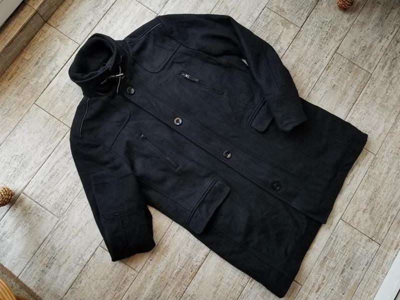 Стильное черное пальто с боковыми карманами как у парки reset размер xl ZARA, ціна - 400 грн, #22364461, купить по доступной цене | Украина - Шафа