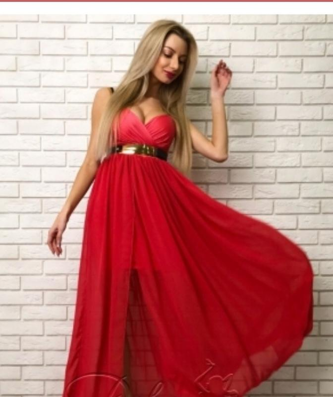 9b9b9c829be Платье в пол с разрезом  вечернее шифоновое платье1 ...
