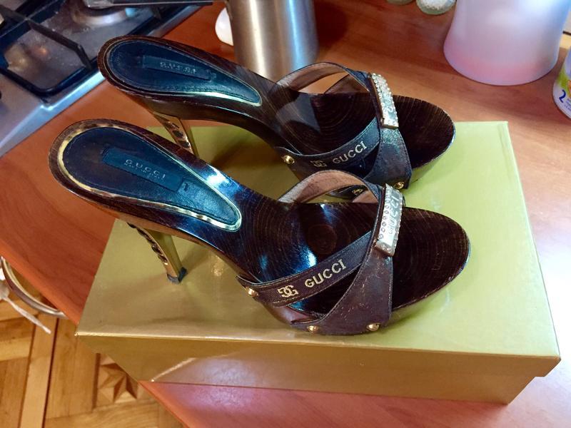 c316d3fa2 Красивые женские шлепки на каблуке gucci, цена - 380 грн, #325439 ...