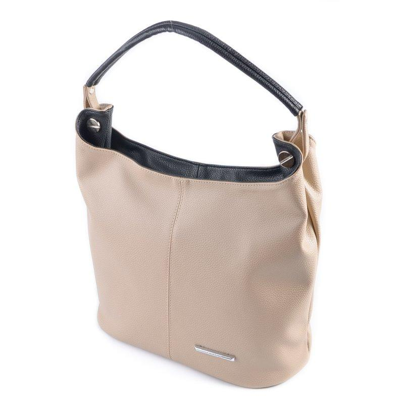 44630e7eca6e Бежевая сумка мешок с одной ручкой на плечо летний шоппер, цена ...