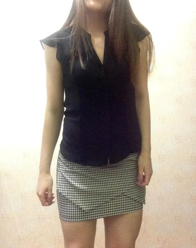 036408ea7fd Блуза черная шифоновая hm1 ...