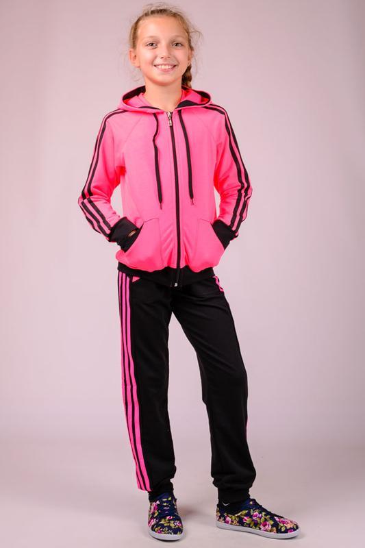 0af896d7 Ярко-розовый трикотажный детский спортивный костюм, для девочки1 фото ...
