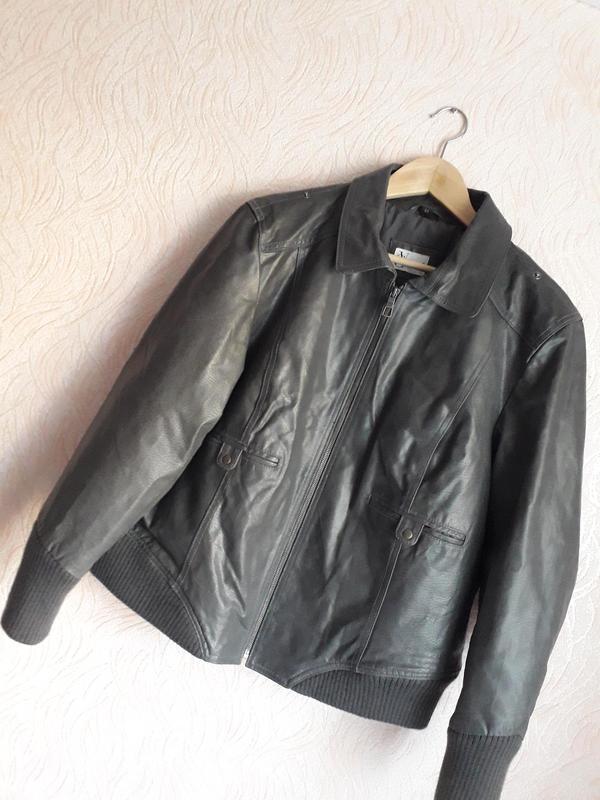 2791c52252d Кожаная крутая куртка для солидного мужчины 52-54размер Vivien Caron ...
