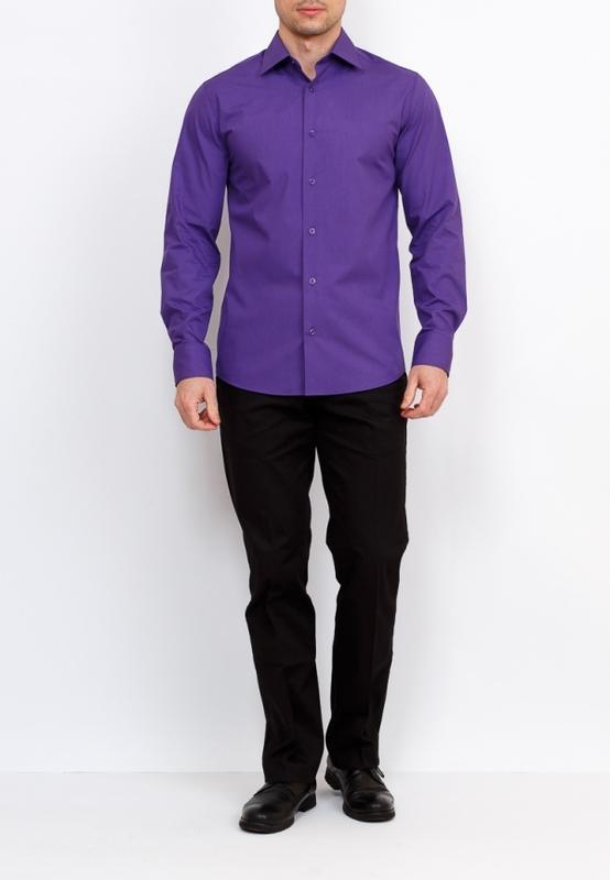 c2d0c8e8c9d Брендовая мужская фиолетовая рубашка p xbushi этикетка1 ...