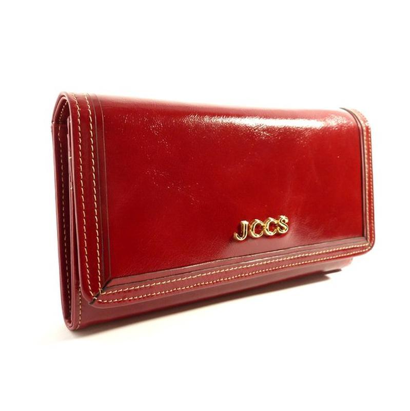 8530a141a5e0 Кошелек женский кожаный jccs 3053 красный классический, цена - 986 ...