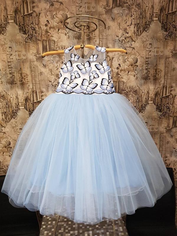 Зеленое пышное платье для девочки NPL061, купить за 2850 рублей в ... | 800x600