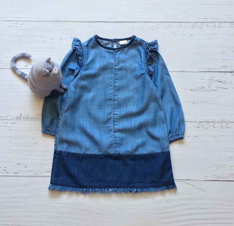 61bcd57a960 Джинсовое платье next на девочку 3 лет1 фото ...