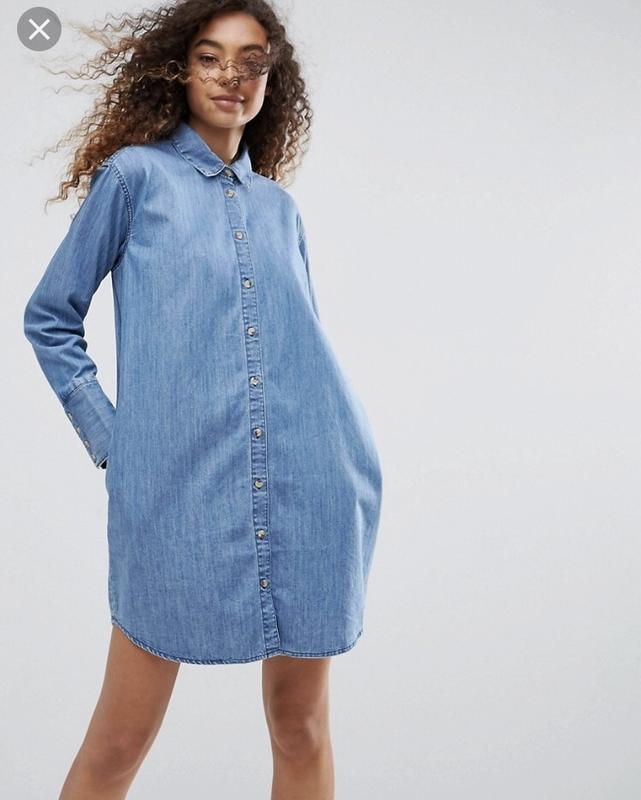 c3a09ef08cb83bb Джинсовое свободное платье-рубашка asos размер м-л {12}. новое. ASOS ...