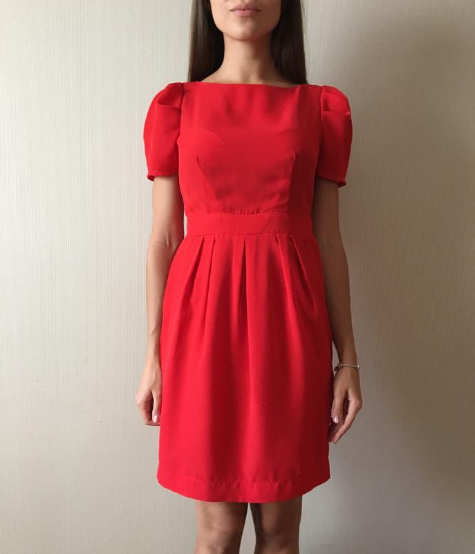 1dbab981241 Красное платье с бантом на спине и молнией Top Secret