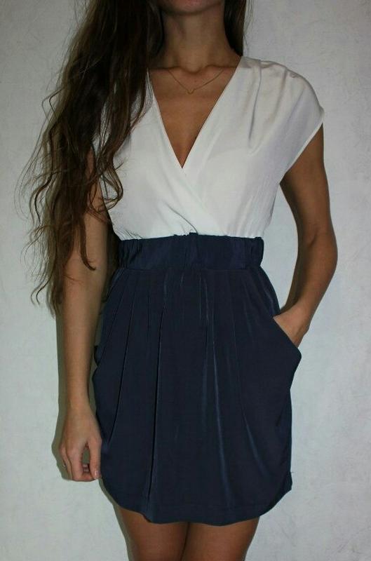 d64737a7c11 Легкое синее платье h m на новый год1 ...