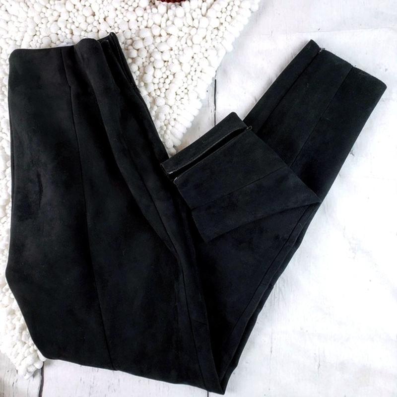 2b4b13d25642 Замшевые леггинсы лосины штаны с завышенной посадкой от zara (ZARA) за 449  грн.