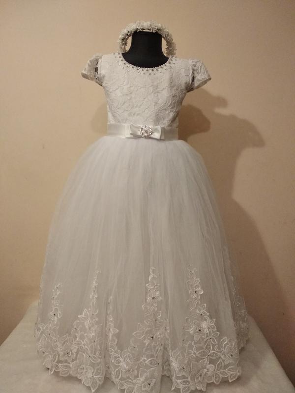 0cf05c8aa Нарядное детское платье на выпускной. белое нарядное платье на причастие.1  фото ...