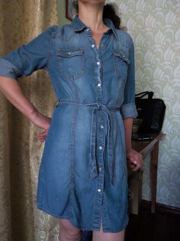 2b2c31f6f44 Стильное джинсовое платье рубашка next1 фото ...