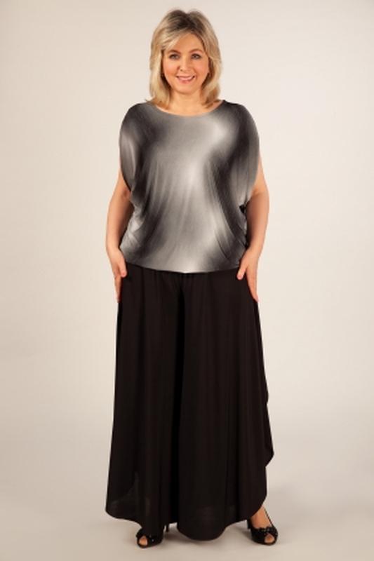 d22cdc17d6e Черная трикотажная юбка на кокетке большого размера1 фото ...