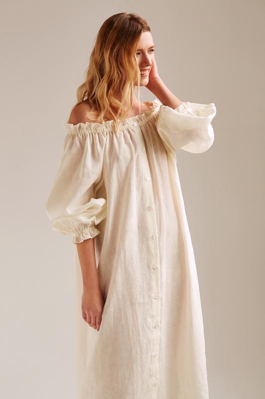 05e931ceb9978ec Платье из 100% льна в стиле daily sleeper, цена - 300 грн, #23114972 ...