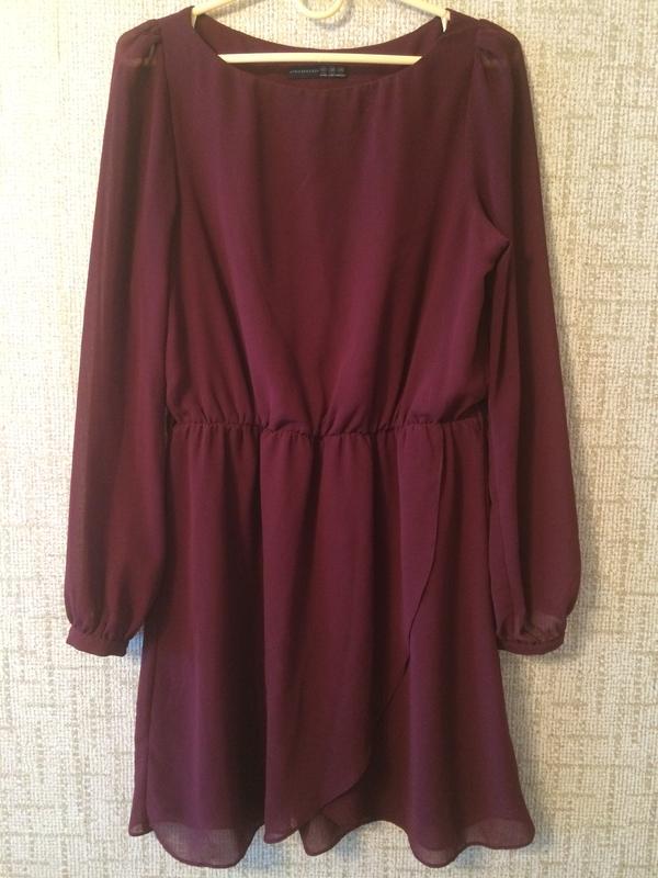 a1a7f075d26 Бордовое шифоновое платье Atmosphere