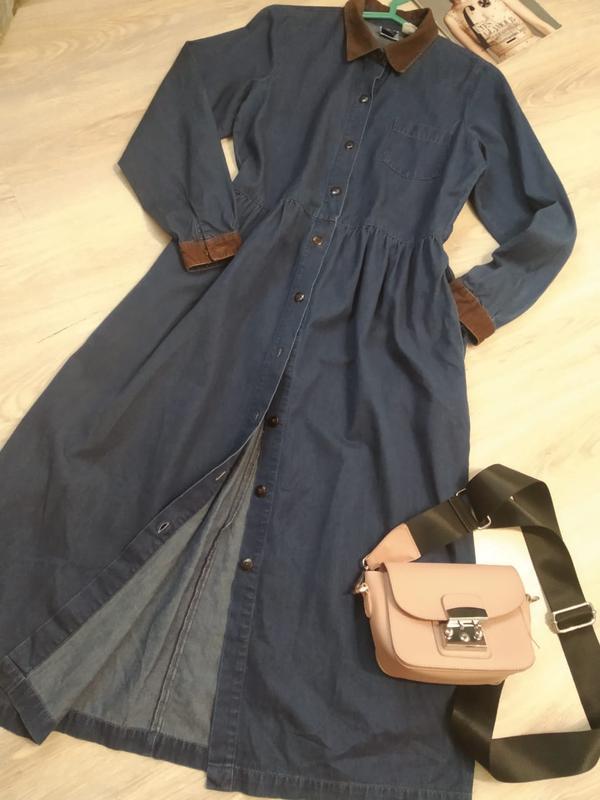 4193792c0a2 Крутое стильное джинсовое платье миди1 фото ...