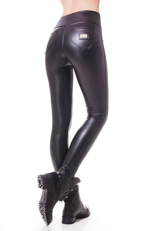 e4b4ce24b5f4c ... Женские черные утепленные кожаные лосины на флисе (40, 42,44, 46, ...