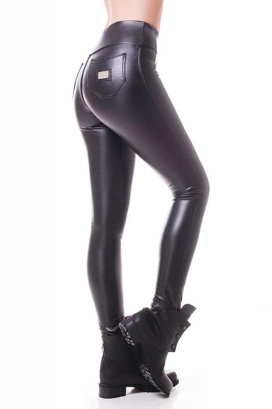 c3ffc99929da4 Женские черные утепленные кожаные лосины на флисе (40, 42,44, 46, 48 ...
