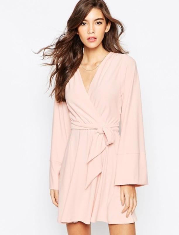 479a1d89b99 Платье з запахом розовый кварц asos короткое платье цвета пудры1 фото ...