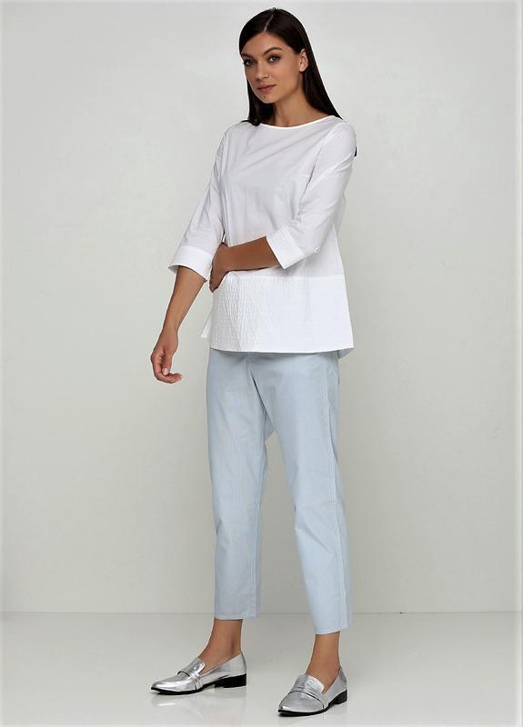 9844e5bc766b Летние капри прямые классические штаны в полоску с высокой талией cos1 фото  ...