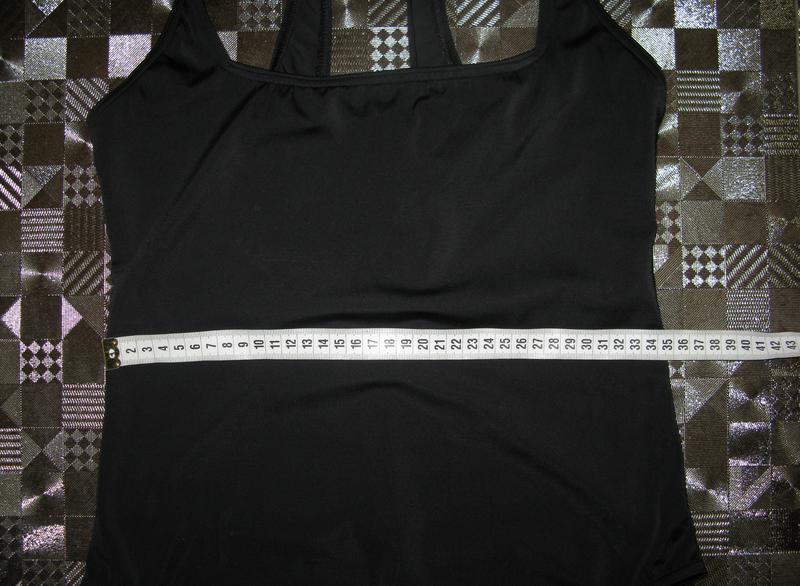 535a8f8895a8c ... Классический черный цельный сдельный сплошной купальник f&f uk169 фото  ...