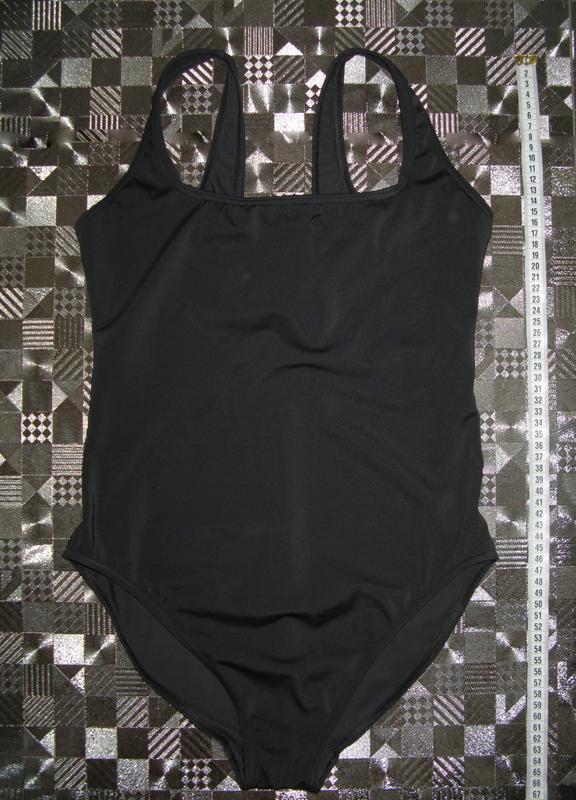 3790e2e94690c ... Классический черный цельный сдельный сплошной купальник f&f uk167 фото  ...