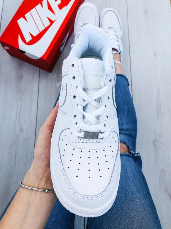 11402104 Стильные кроссовки 😍 nike air force classic leather white 😍6 фото ...