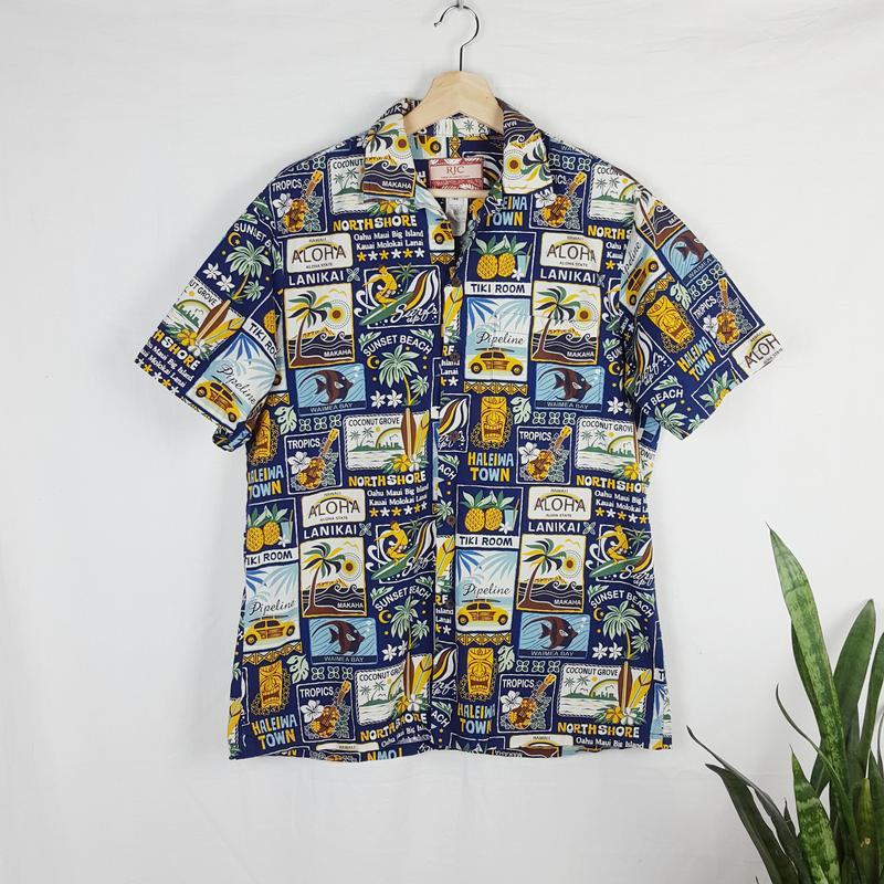 13a1c4fb6 Рубашка гавайка rjc hawaiian shirt made in usa, цена - 350 грн ...
