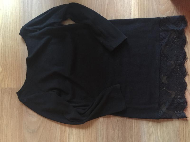 d4e53be758c Вязаное платье с кружевом внизу1 фото