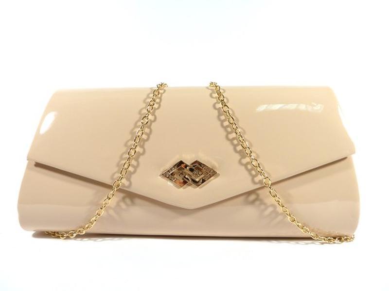 Вечерний бежевый лаковый клатч rose heart 103056-31, сумочка на цепочке1 ... 041f1bda4da