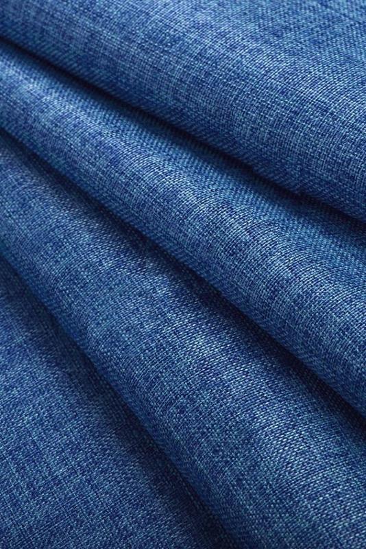 Синяя ткань для штор купить персиковый пух