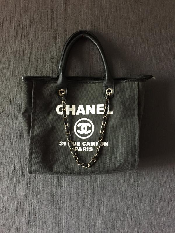557cf4daf75e Сумка chanel холст серая новая шоппер большая стильная Chanel, цена ...